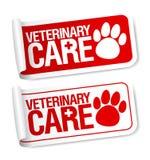 Etiquetas veterinárias do cuidado. Fotografia de Stock Royalty Free
