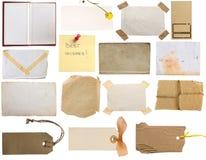 Etiquetas y colección de las notas Foto de archivo libre de regalías