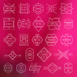 Etiquetas y elementos del diseño Imagen de archivo