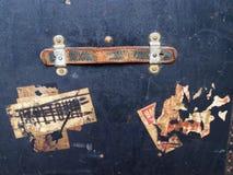 Etiquetas y escrituras de la etiqueta de bagaje del recorrido Foto de archivo