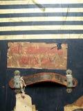 Etiquetas y escrituras de la etiqueta de bagaje del recorrido Imagen de archivo libre de regalías
