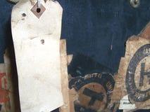 Etiquetas y escrituras de la etiqueta de bagaje del recorrido Imagen de archivo