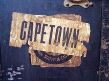 Etiquetas y escrituras de la etiqueta de bagaje del recorrido Fotos de archivo