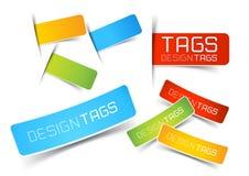 Etiquetas y escrituras de la etiqueta del diseño Imagen de archivo libre de regalías