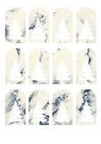 Etiquetas y etiquetas del regalo del color de agua de la Navidad imagen de archivo