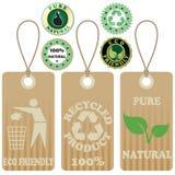 Etiquetas y etiquetas engomadas 2 de Eco Fotos de archivo