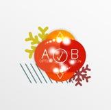 Etiquetas y etiquetas engomadas del promo de la Navidad o del Año Nuevo Fotografía de archivo libre de regalías