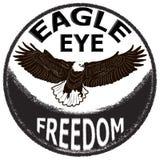 Etiquete el diseño con el águila dibujada mano para los carteles, camisetas, saludando Imagen de archivo libre de regalías
