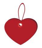 Etiquete los corazones Fotografía de archivo libre de regalías