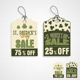 Etiquete ou etiquete para a celebração do dia de St Patrick feliz Foto de Stock