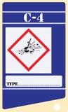 Etiquete para los explosivos C-4 libre illustration