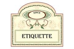 Etiquette Stock Image