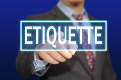 Etiquette Concept Stock Photo