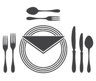 Etiquette Proper Table Setting Stock Image