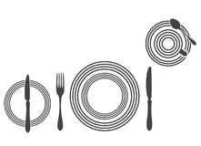 Etiquette Proper Table Setting Royalty Free Stock Photography