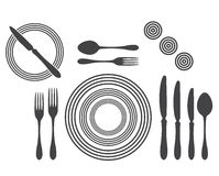 Etiquette Proper Table Setting Royalty Free Stock Images
