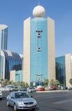 Κτίριο γραφείων Αμπού Ντάμπι Etisalat Στοκ εικόνα με δικαίωμα ελεύθερης χρήσης
