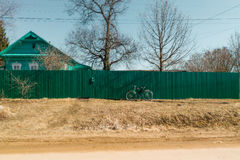 Etiuda z zielonym bicyklem Obraz Royalty Free