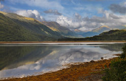 etive fjord scotland Fotografering för Bildbyråer