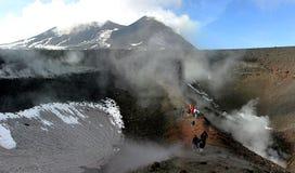 etna全景火山 免版税库存图片