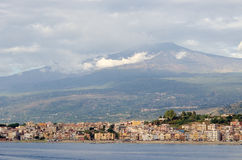 etna意大利mt西西里岛 免版税库存图片