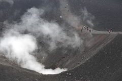 etna火山作用 库存图片