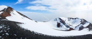 Etna火山口 免版税图库摄影
