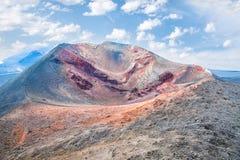 Etna火山火山口在西西里岛 免版税图库摄影