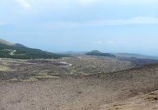 Etna火山的风景 图库摄影