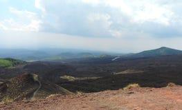 Etna火山的风景 库存图片
