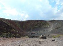 Etna火山的风景 免版税库存照片