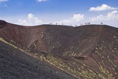 Etna火山,意大利 库存照片