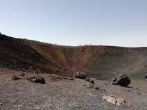 Etna火山,火山口 库存图片