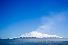 etna火山 免版税库存图片
