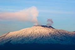etna火山 库存照片