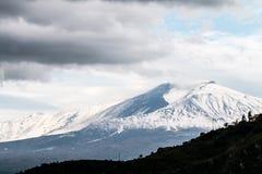 Etna śnieżny Zdjęcia Royalty Free