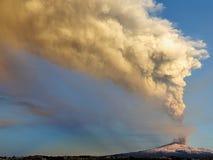 Etna έκρηξη Στοκ Εικόνες