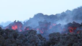 Etna λεπτομέρεια ροής λάβας φιλμ μικρού μήκους
