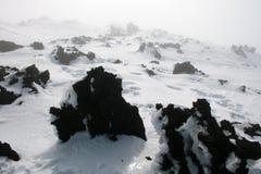 Etna, ηφαίστειο της Σικελίας που καλύπτεται από το χιόνι Στοκ φωτογραφία με δικαίωμα ελεύθερης χρήσης