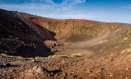 Etna κρατήρας ηφαιστείων Στοκ Φωτογραφία