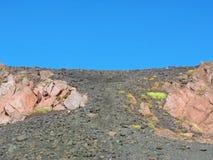 Etna κρατήρας ηφαιστείων Στοκ Εικόνες