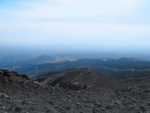 Etna κρατήρας ηφαιστείων Στοκ Φωτογραφίες