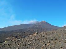 Etna κρατήρας ηφαιστείων Στοκ φωτογραφίες με δικαίωμα ελεύθερης χρήσης