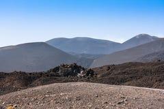 Etna κρατήρας συνόδου κορυφής του νοτιοανατολικού πανοράματος, Σικελία Στοκ εικόνα με δικαίωμα ελεύθερης χρήσης