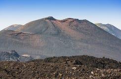 Etna κρατήρας συνόδου κορυφής του νοτιοανατολικού πανοράματος, Σικελία Στοκ Φωτογραφία