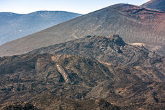 Etna κρατήρας συνόδου κορυφής του νοτιοανατολικού πανοράματος, Σικελία Στοκ Φωτογραφίες