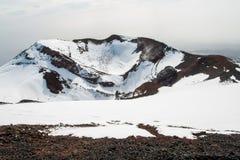 Etna κρατήρας Στοκ φωτογραφία με δικαίωμα ελεύθερης χρήσης