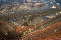 Etna κρατήρας Στοκ Εικόνες