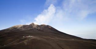 Etna κρατήρες συνόδου κορυφής Στοκ Φωτογραφίες