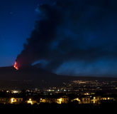 Etna πυρκαγιά Στοκ εικόνα με δικαίωμα ελεύθερης χρήσης